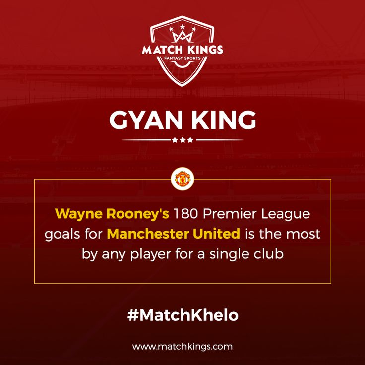 Manchester United's Wayne Rooney has a fantastic record to his name! Pick him now on www.matchkings.com! #MatchKhelo #MUFC #pl #fpl #fantasysoccer #soccer #fantasyfootball #football #fantasysports #sports #fplindia #fantasyfootballindia #sportsgames #gamers  #stats  #fantasy #MatchKings