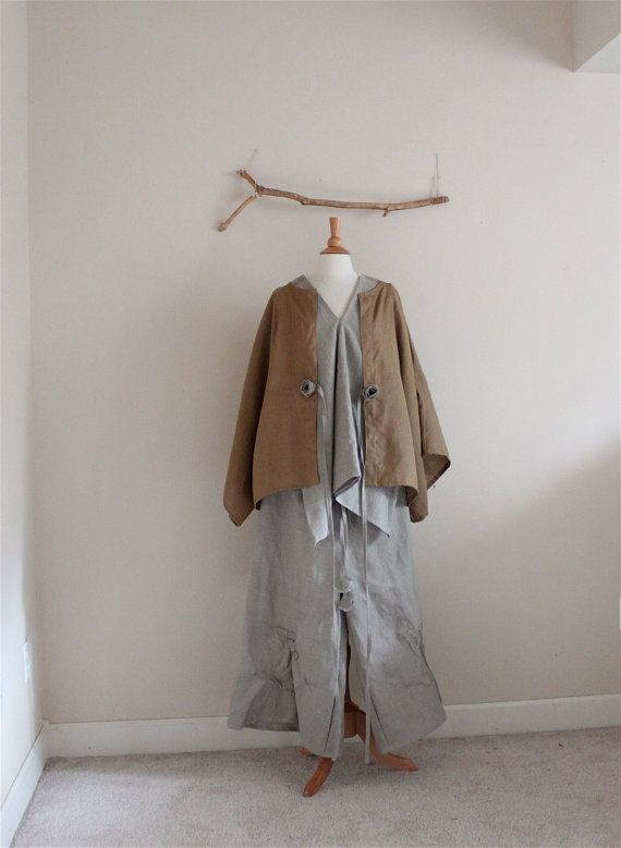natural ginger sparrow linen outfit  by annyschooecoclothing,