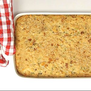 Cornbread dressing.  Deliciously moist and perfectly seasoned, this full flavor dish will be your new go-to recipe for holidays and family get-togethers.  Recipe: Cornbread Dressing