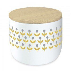 Small Retro Flowers Canister