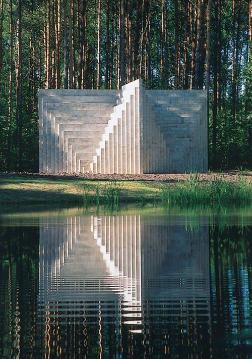 b22-design:Sol LeWitt- Double Negative Pyramid- 1999 Europos Parkas open air museum - Lithuania