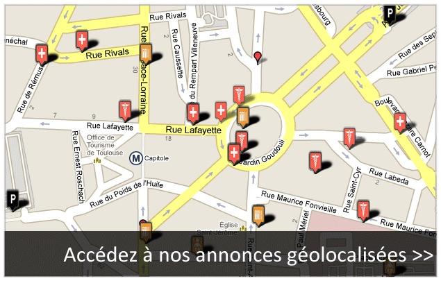 Accèdez à nos #annonces géolocaliser #Luchon #Toulouse - www.hexia.fr