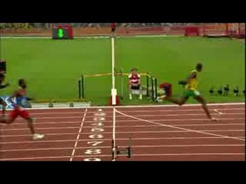 Athletics - Men's 200M Final - Beijing 2008 Summer Olympic Games - Usain Bolt's new world record.