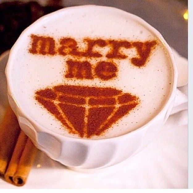 Imagine being proposed to with this delicious cup of coffee? What a cool idea! | BuzzFeed: 14 Seriously Creative Proposal Ideas
