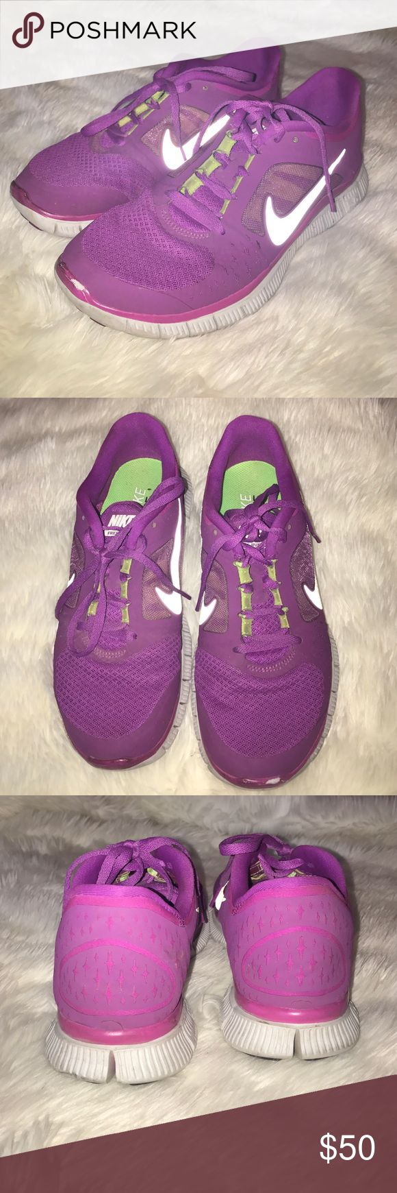Nike Free 5.0 Nike Free 5.0/ Color: Magenta with accents of lime green/ Size: US women's 8 Nike Shoes Athletic Shoes
