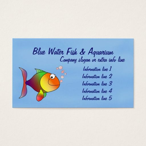 The 154 best fishing business cards images on pinterest business fish aquarium business card colourmoves