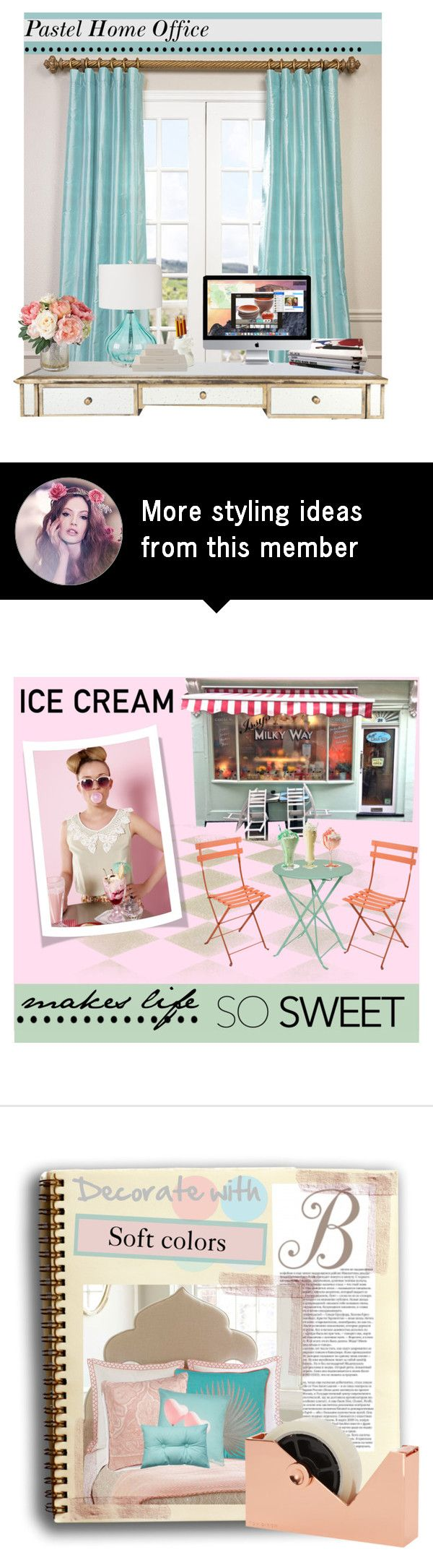 """""""Pastel Home Office"""" by elisapar on Polyvore"""