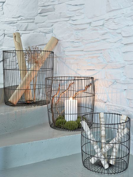 This Decorative Set Of 3 Large Metal Wire Storage Baskets Is A Stylistu0027s  Dream!