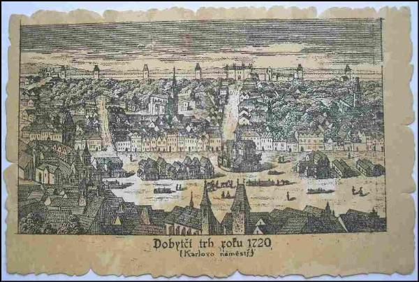 Praha, Karlovo náměstí | (Dobytčí trh, 1720)