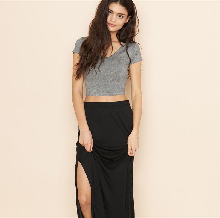 Side Slit Maxi Skirt.