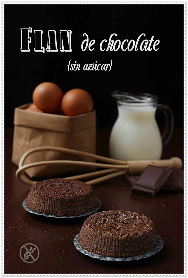 Flan de chocolate {by Paula, Con las Zarpas en la Masa}