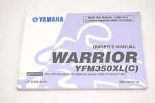 New OEM Yamaha Owner's Manual Warrior YFM350XL(C) NOS in eBay Motors, Parts & Accessories, Motorcycle Parts, Other Motorcycle Parts | eBay