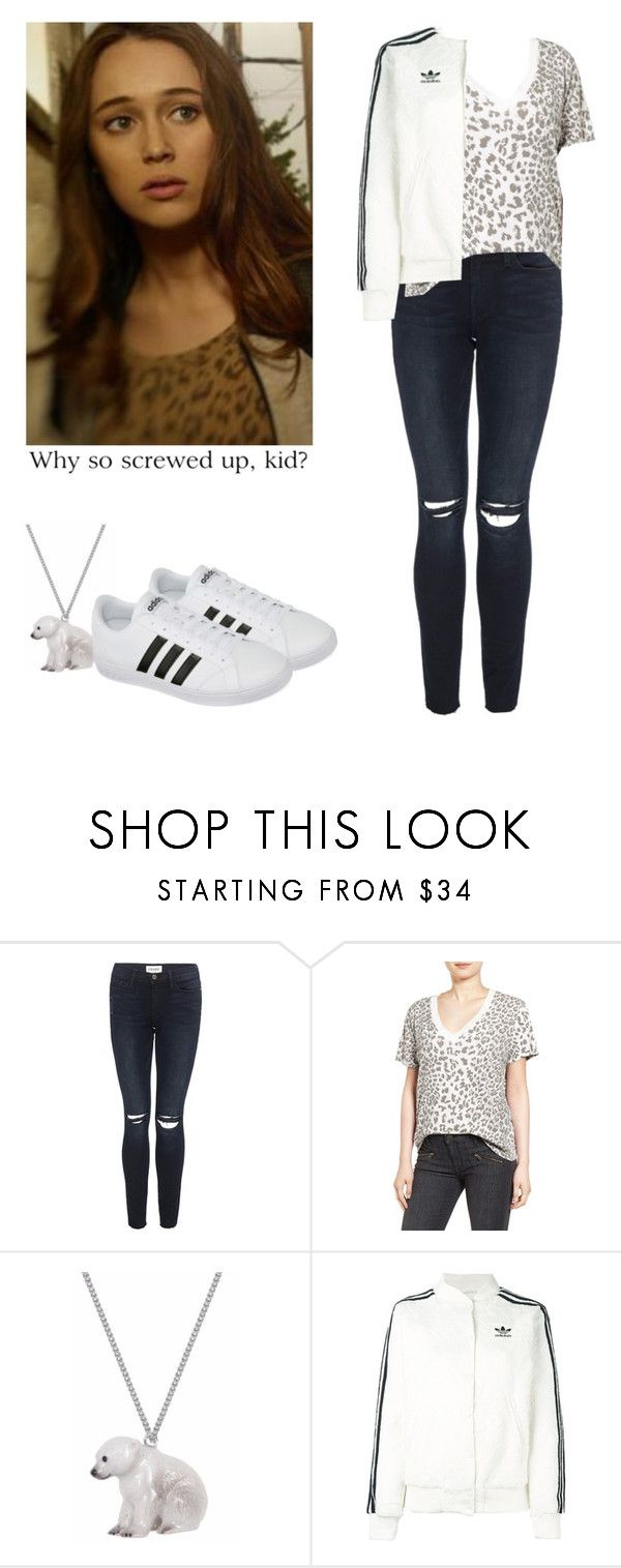 """""""Alicia Clark with adidas baselines - ftwd / fear the walking dead"""" by shadyannon ❤ liked on Polyvore featuring Frame, Current/Elliott, And Mary, adidas Originals and adidas"""