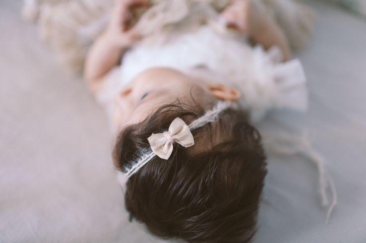 Baby hair accessory. Spring/Summer. Organic. Bow. Pink.  Crochetbynina  CrinaCurescu