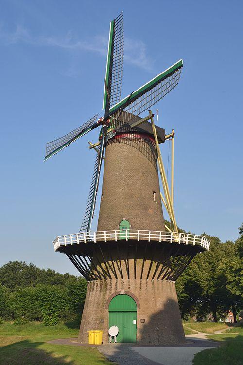 Flour mill De Stadsmolen, Hulst, the Netherlands