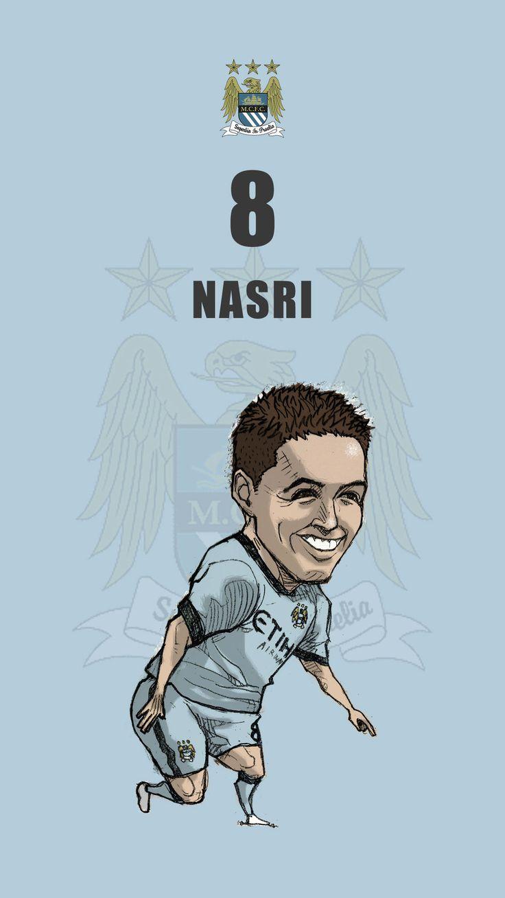 """Manchester city fan art for mobile wallpaper """"Samir Nasri"""""""
