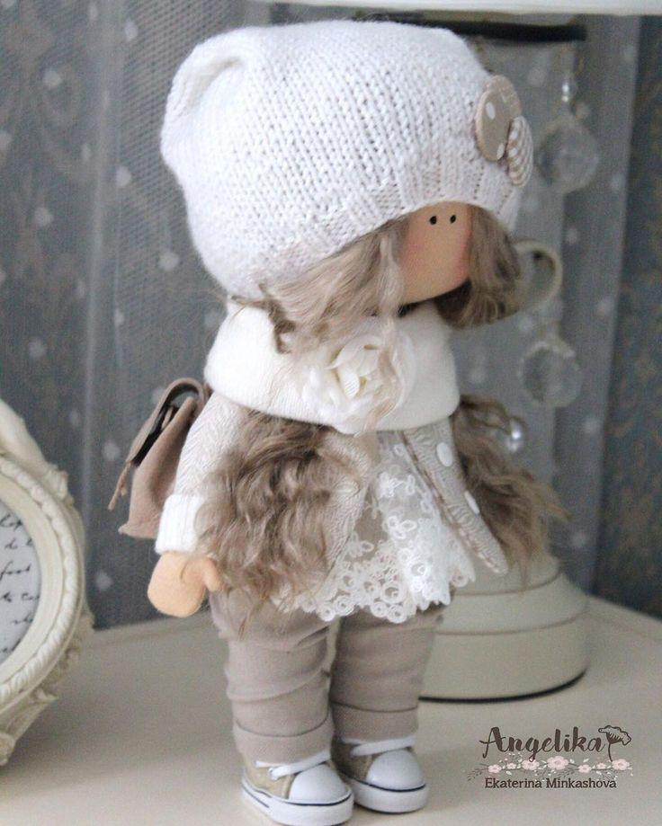 """206 Likes, 2 Comments - Angelika Ekaterina Minkashova (@min._ekaterina) on Instagram: """"#кукла #кукланазаказ #текстильнаякукла #хобби"""""""