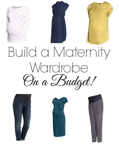 Maternity clothes on a budget! Great tips for building up your wardrobe without breaking the bank!