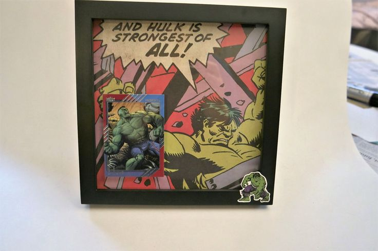 """Marvel's Avengers Incredible Hulk Bruce Banner 8.25"""" x 8.25"""" 3D Framed Out by CuriousImpossible on Etsy"""