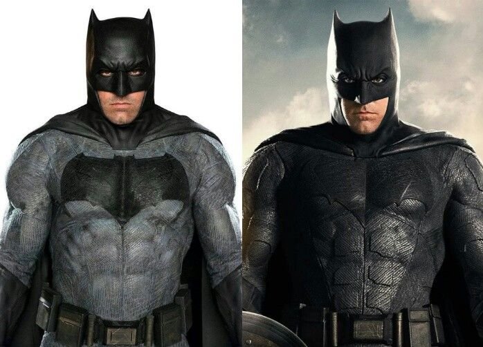 New Batman suit(right) for Justice League movie