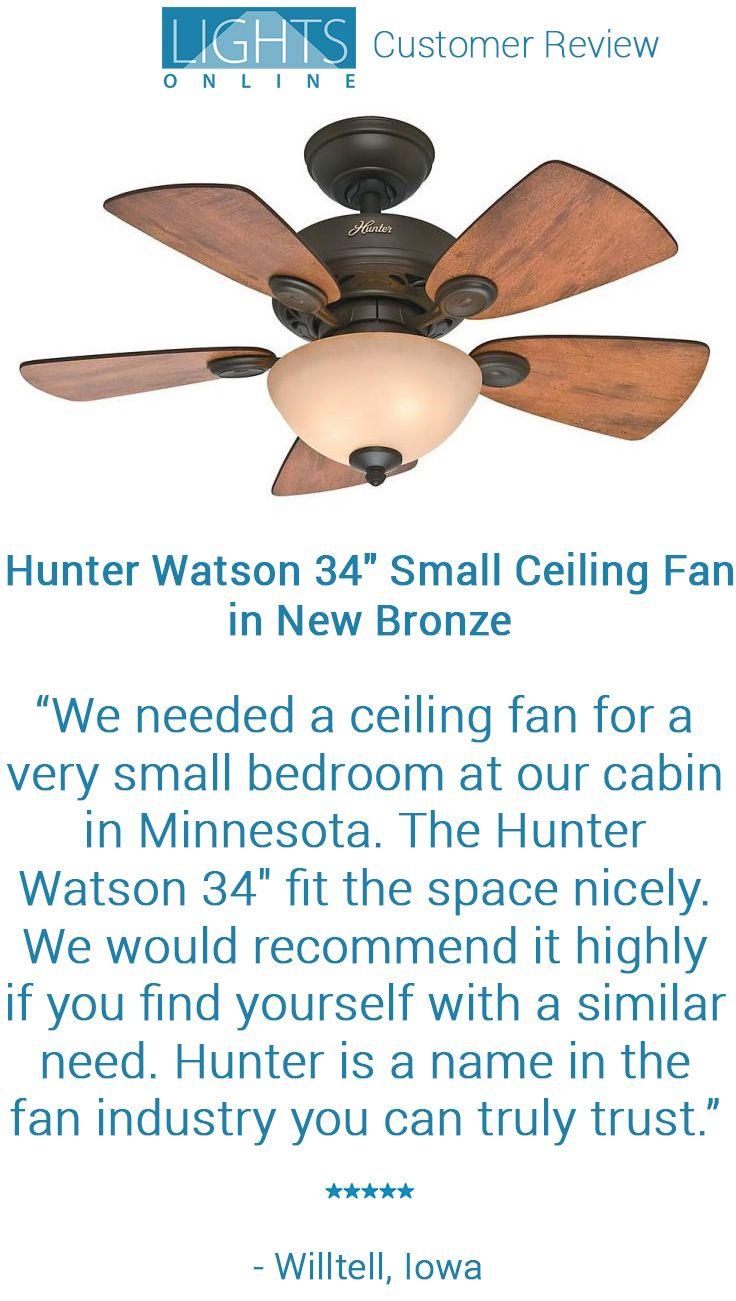 Lightsonline Com Customer Review Hunter Watson 34 Small Ceiling