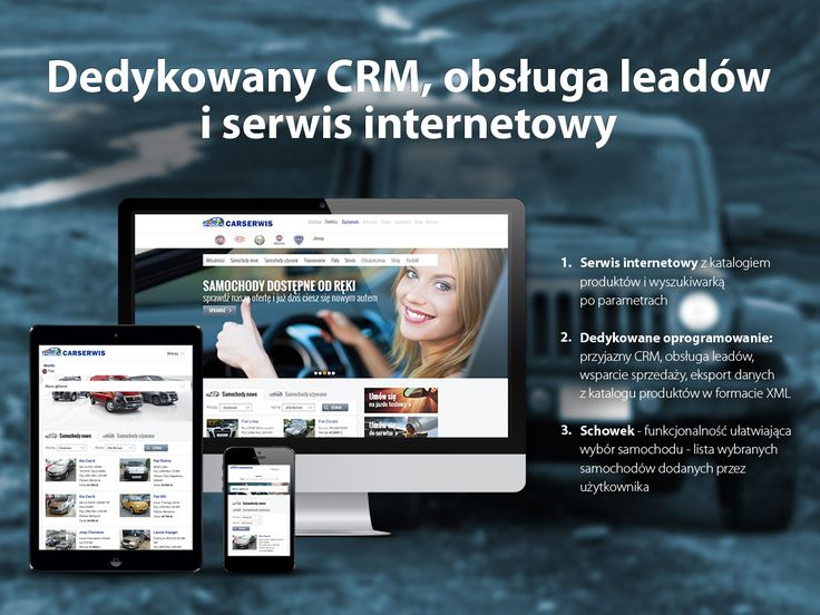 Carserwis. Dedykowany CRM, obsługa leadów i serwis internetowy.