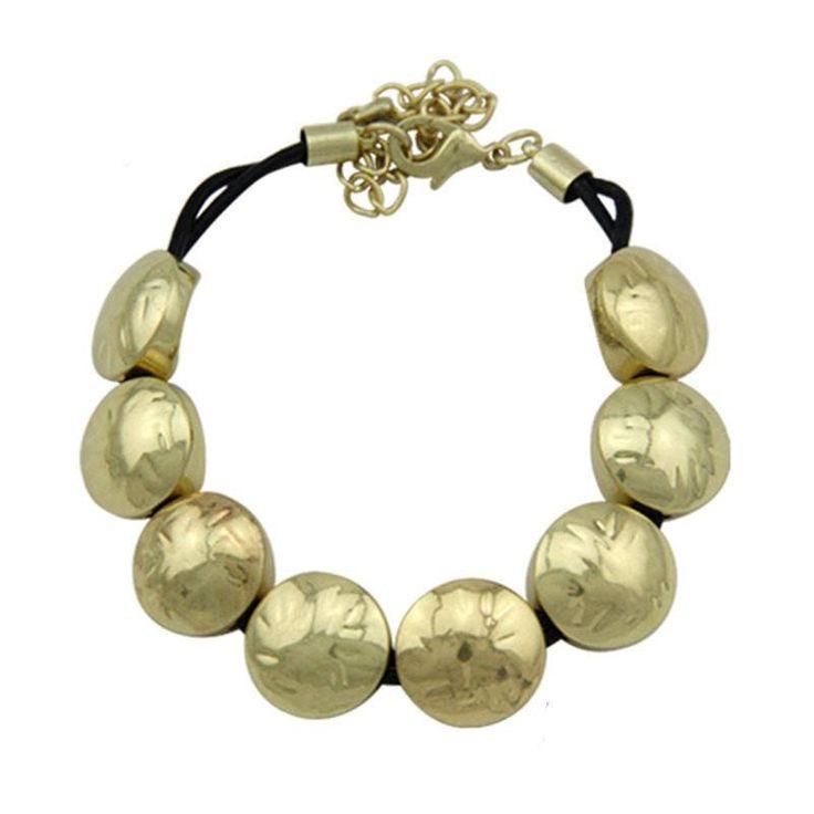 Fashion Bracelet - Uliana Chunky Silver & Gold Round Fashion Bracelet