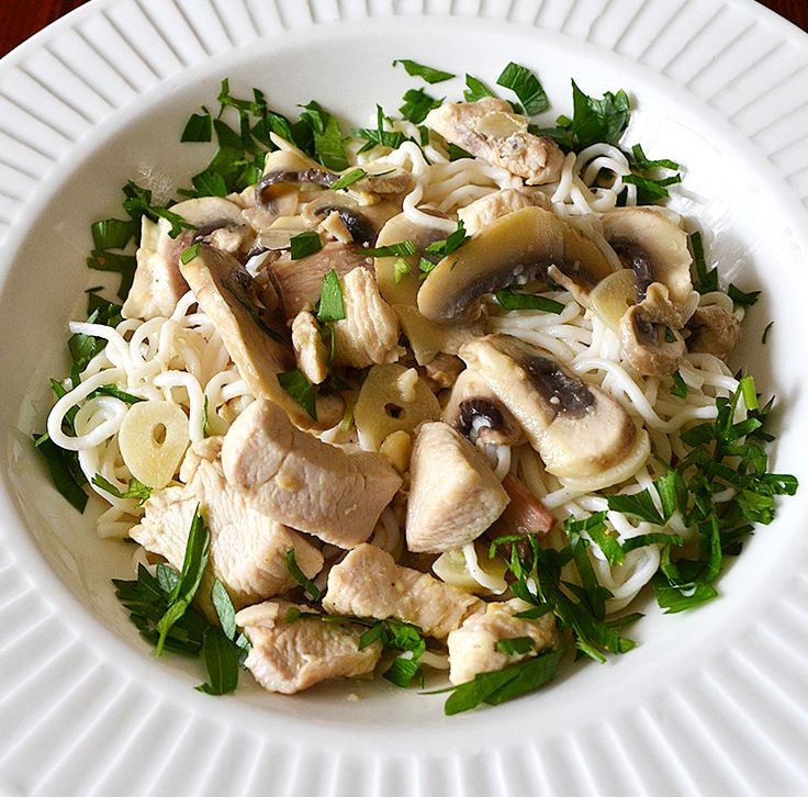 Recipe Low Fat Creamy Chicken Mushroom Spaghetti / 269 calories ...