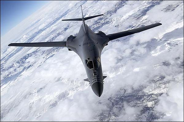 B-1 / B-1B Lancer Bomber in Flight Photo Print for Sale