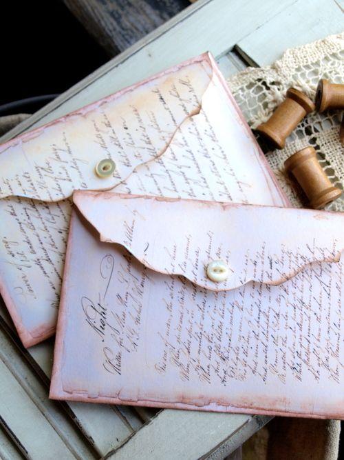 IDEA for Envelopes- French Script Envelopes with Post Card Set 2 http://www.noellegarrettdesigns.com/item_5408/French-Script-Envelopes-with-Post-Card-Set-2.htm