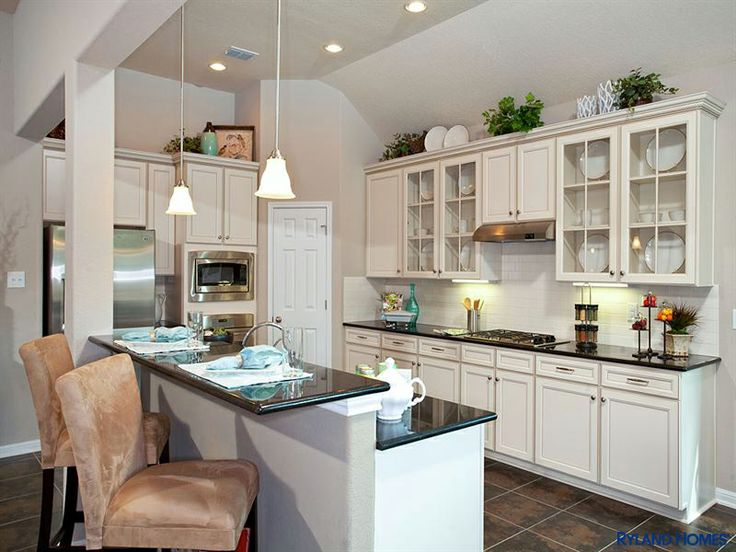 453 best kitchens white cabinets off white white washed too images on pinterest for Ryland homes design center reviews