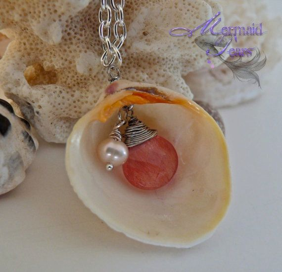 #Handmade #Jewellery - shell beachy necklace http://www.mycraftkingdom.com