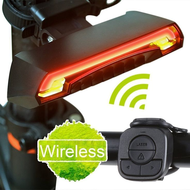 Bicycle Laser Tail Light - Remote Turn Signal  29.99