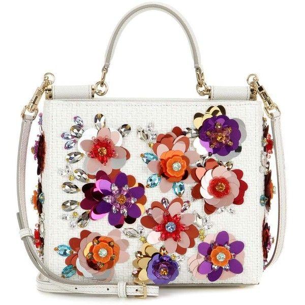 Dolce & Gabbana Embellished Raffia Shoulder Bag ($2,480) ❤ liked on Polyvore featuring bags, handbags, shoulder bags, bolsa, dolce & gabbana, purses, multicoloured, white handbags, man shoulder bag and hand bags