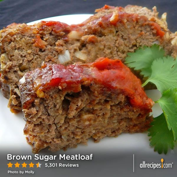 Brown Sugar Meatloaf | This meatloaf is glazed with brown sugar and ...