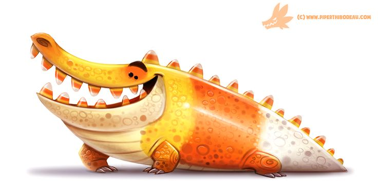 Daily Paint #1062. Crococorn by Cryptid-Creations ★ Find more at http://www.pinterest.com/competing