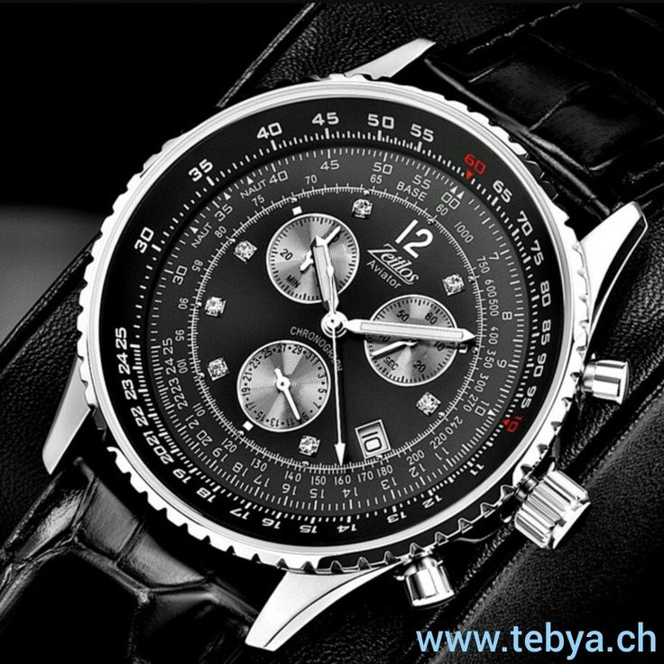 Aviator Black Russian White Flieger Chronograph der Uhrenmarke Zeitlos.