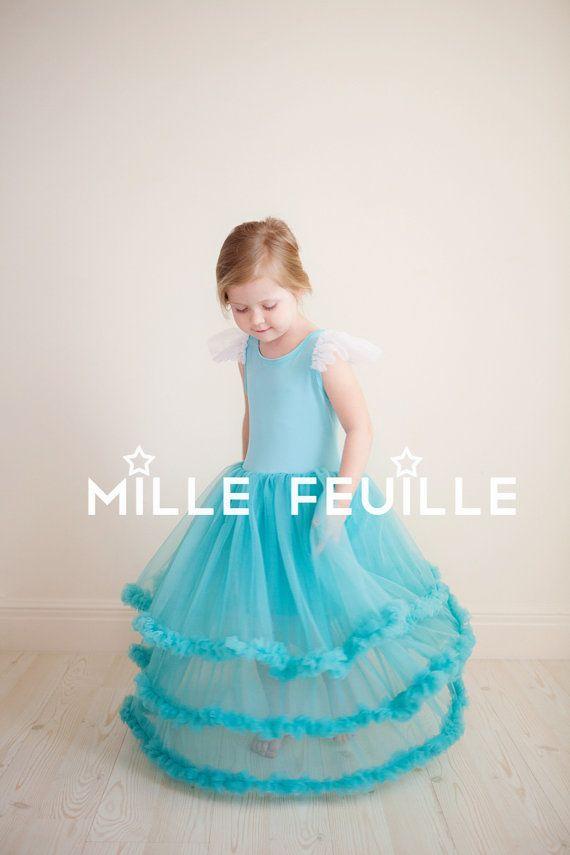 Frozen Princess Elsa dress pettiskirt by MilleFeuilleBoutique disney frozen birthday party