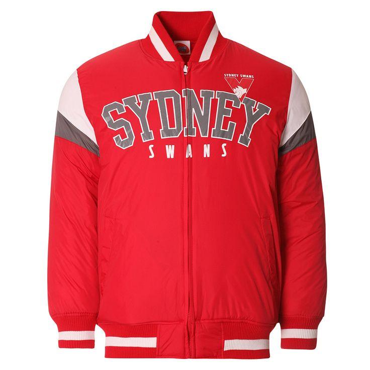AFL Mens Fan Varsity Jacket Sydney Swans