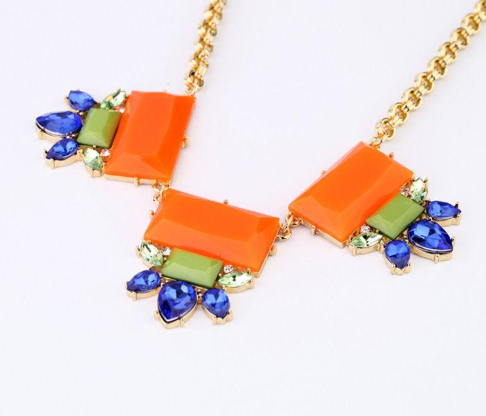 Stylish Orange Red Pendant Necklace