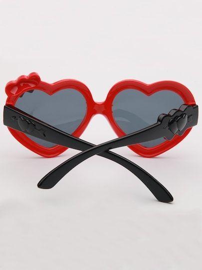 4020f208ed SheIn   Girls Heart Shaped Lens Sunglasses