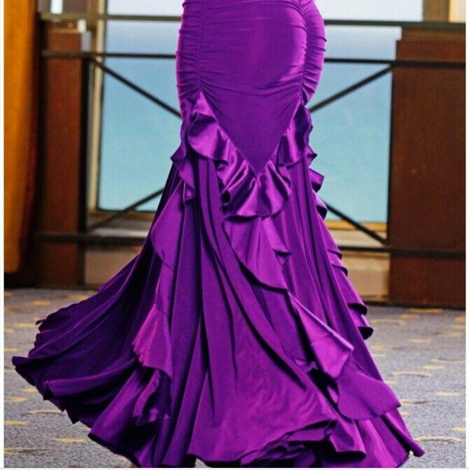 S-XXL Ballroom dance skirts Modern dance Practice skirt Expansion skirt Ballroom dress Flamenco skirts free shipping
