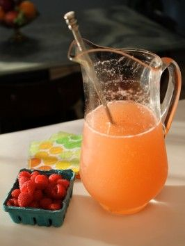 1 cup limoncello, 2 bottles prosecco, 1 pint strawberries or raspberries, ice. Limoncello Spritzer : Recipes : Cooking Channel