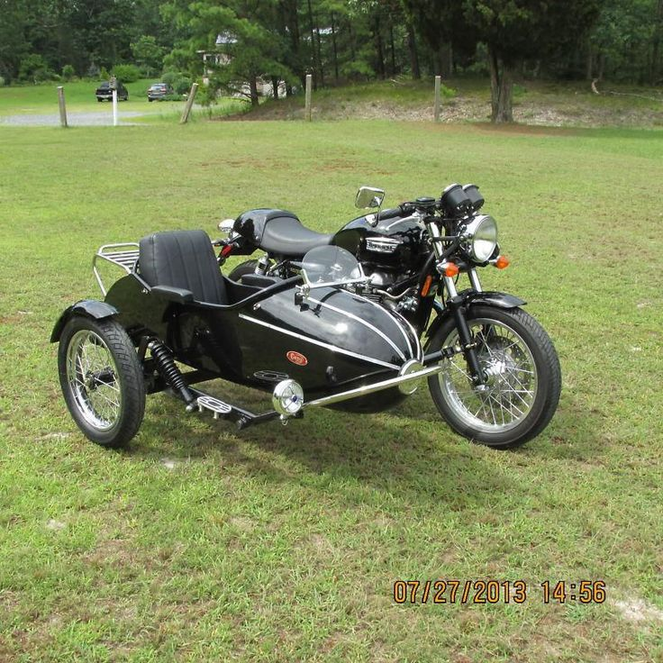 2009 Triumph Thruxton with cozy rocket sidecar, US $11,995.00, image 2