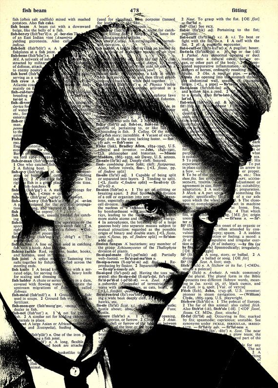"""David Bowie - Glam Rock - 8x11""""  Print on Vintage repurposed paper - Dictionary Print on Etsy, $12.99"""