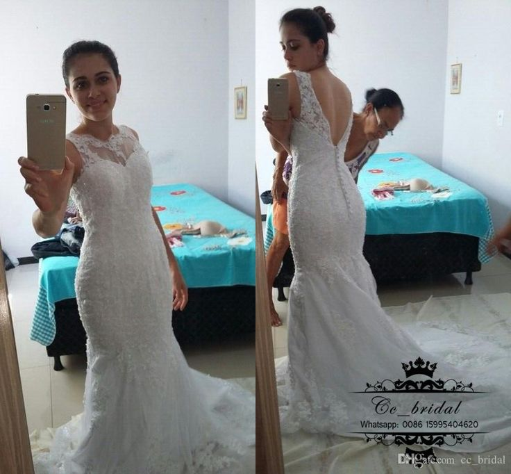 Amazing New South African Mermaid Wedding Dresses With Sheer Scoop Neck Cheap Lace Applique Bridal Gowns Hot Sale Plus Size Robe De Soiree Mermaid Wedding Dresses 2016 Plus Size Beach Wedding Dresses Mermaid Wedding Gowns Online with 184.0/Piece on Cc_bridal's Store   DHgate.com