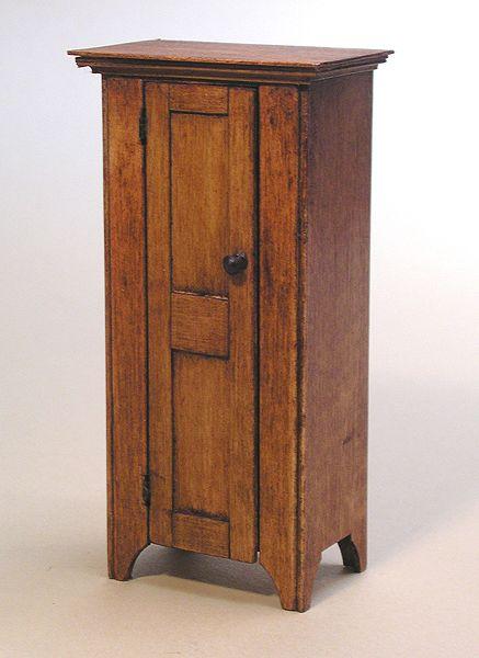 Miniature Shaker Jelly Cabinet Circa 1830 by Ken Byers.