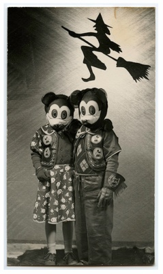 Somewhat creepy Mickey and Minnie Mouse