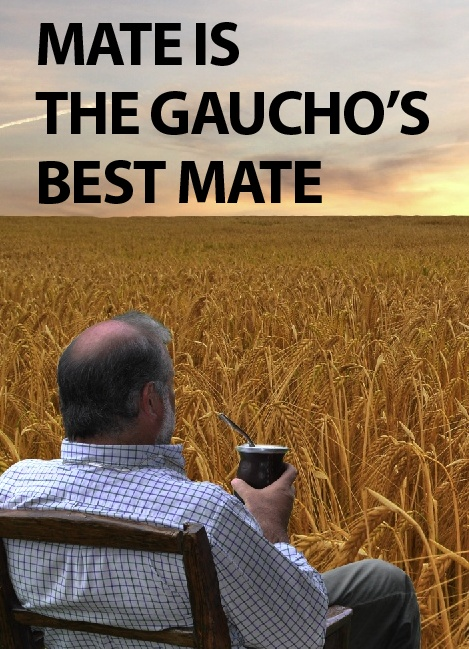 Mate is the gaucho's best mate. Traducion: El mate es el major amigo del Gaucho.