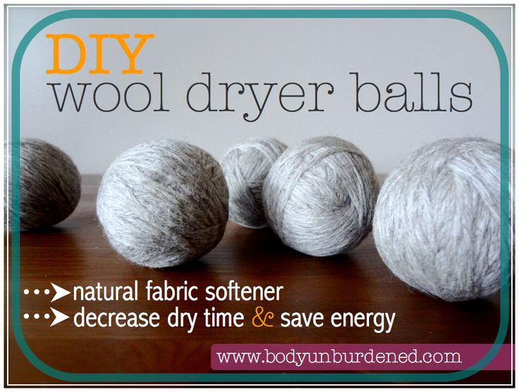 These DIY wool dryer balls act as an all-natural fabric softener AND decrease dry time by 25-30 minutes!